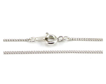 White Plated Snake Chain Necklace - 23 Inches