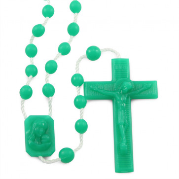 Green Plastic Rosaries