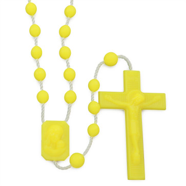 Yellow Plastic Rosaries