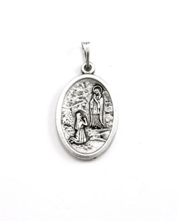 St. Bernadette - Our Lady of Lourdes Medal - Front