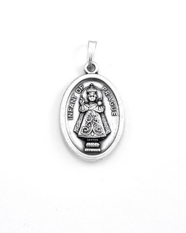 Infant of Prague - Sacred Heart Medal - Front