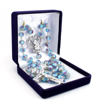 Rosary Capped Glass Beads
