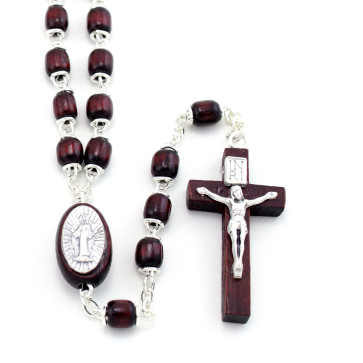 Wooden Capped Beads Rosary