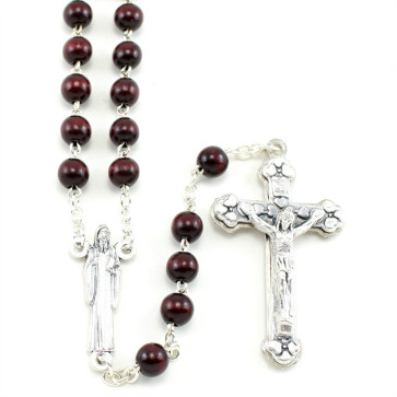 Saint Benedict Cherry Wood Rosary
