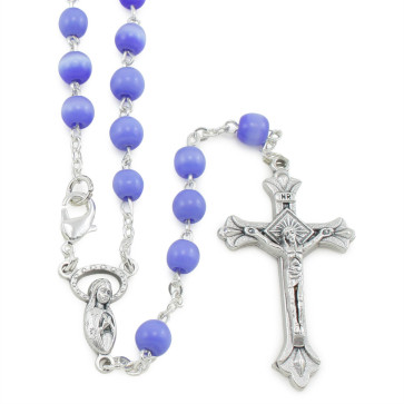 Blue Cat Eye Beads Rosary