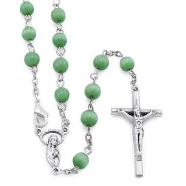 Green Cat Eye Beads Rosary