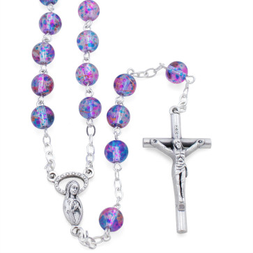 Multi Color Speckled Glass Beads Rosary