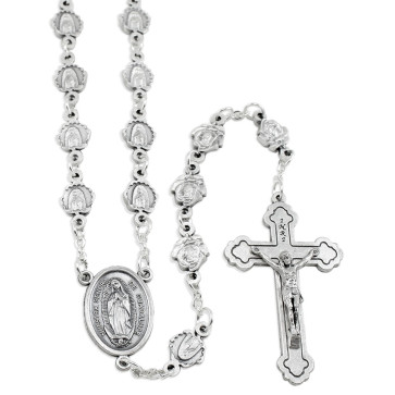 Our Lady of Guadalupe Metal Beads Rosary