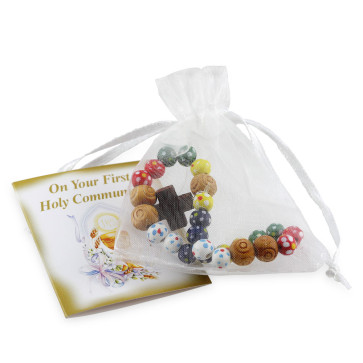 Rosary Bracelet with Wooden Beads