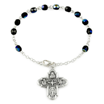 Four Way Cross Rosary Bracelets