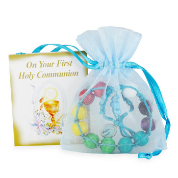 Rosary Bracelet with Multicolored Beads