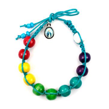 Multicolored Beads Rosary Bracelet
