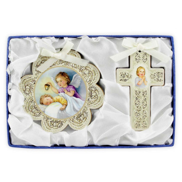 Cross and Medal Baby Gift Set