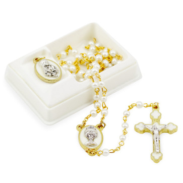 First Communion Catholic Rosary Set for Girls