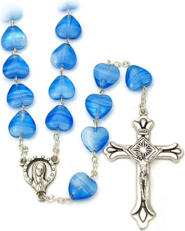 Heart Glass Beads Rosary