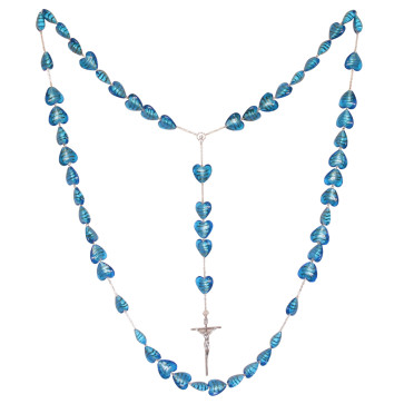 Wall Rosary Blue Venetian Glass Beads