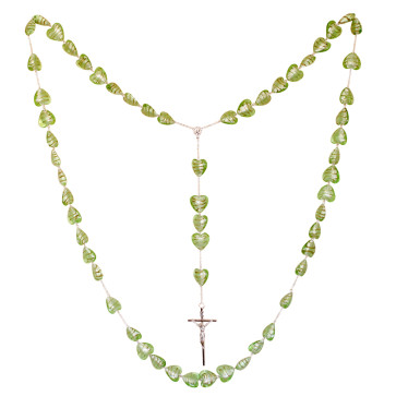 Rosary with Heart Beads