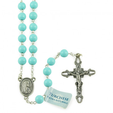 Rosary with Turquoise Stone Beads