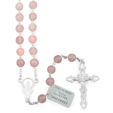 Rosary with Pink Quartz Beads Rosary