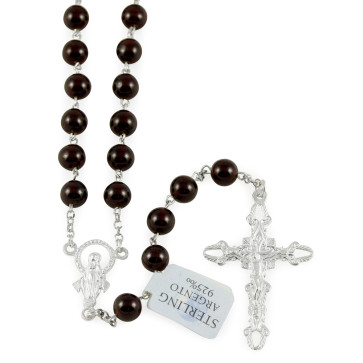 Rosary with Garnet Beads