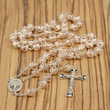 Capped Beads Rosary