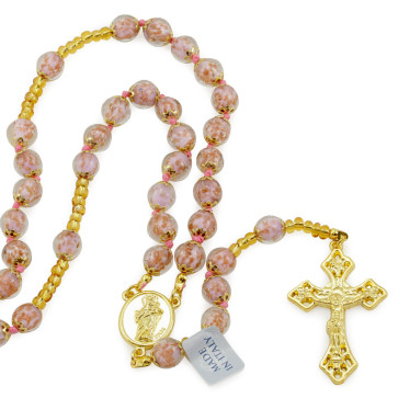 Rosary with Murano Glass Beads