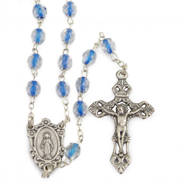 Miraculous Soul Glass Beads Catholic Rosary