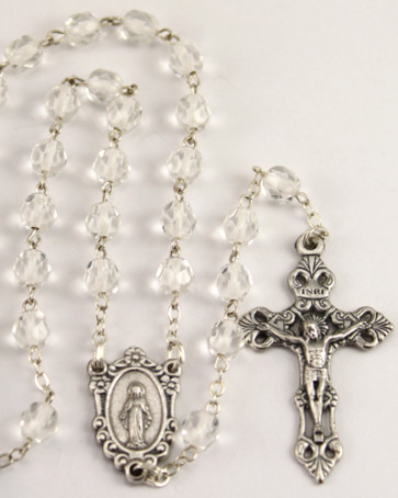 Soul Glass Beads Catholic Rosary