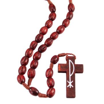 Carved Beads Catholic Rosary