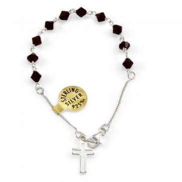 Swarovski Crystal Beads Rosary Catholic Bracelet