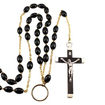 Black Nun's Beads Catholic Rosary