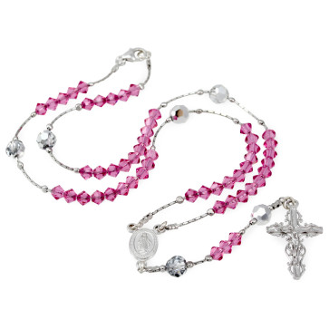 Crystal Beads Rosary with Clasp