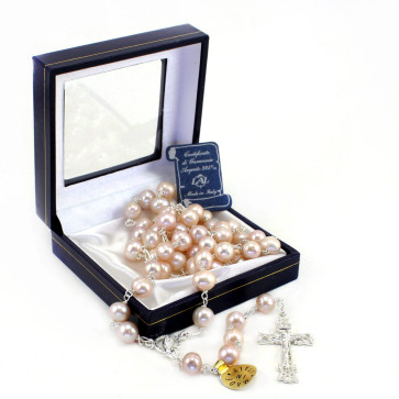 Rose River Pearl Catholic Rosary