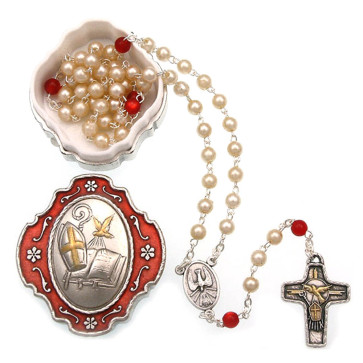 Catholic Confirmation Rosary Gift Set