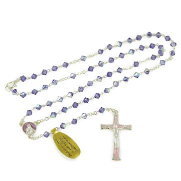 Amethyst Swarovski Crystal Beads Rosary