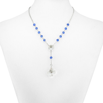 Swarovski Crystal Beads Rosary Necklace