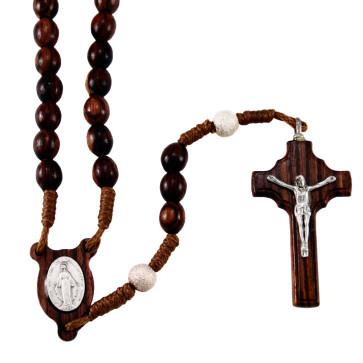 Palisander Wood Catholic Rosary