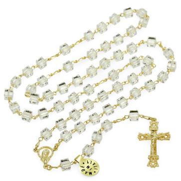 Swarovski Crystal Medallion Catholic Rosary
