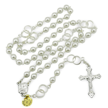 Wedding Rosary with Pearl Beads