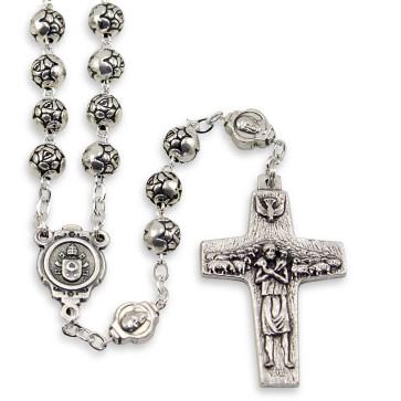 Pope Francis Rosebud Beads Rosary