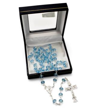 Sapphire Swarovski Crystal Beads Rosary
