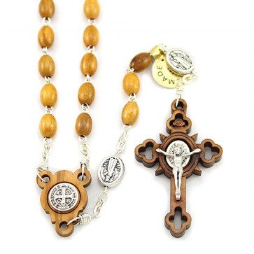St. Benedict Oilve Wood Rosaries