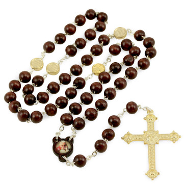 John Paul II Rosary with wooden beads