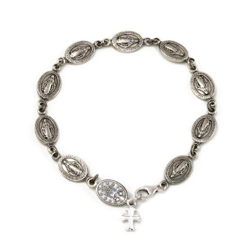 Miracle Medals Beads Rosary Bracelet