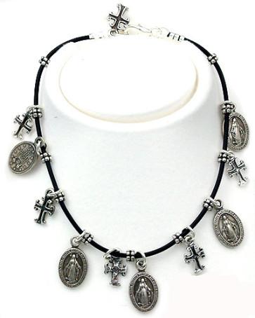 Miraculous Medal Catholic Rosary Bracelet