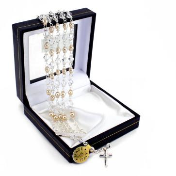 Swarovski 5 Strand Catholic Rosary Bracelet - box