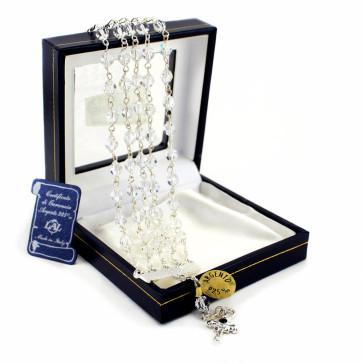 5 Strand Clear Swarovski Crystal Beads Rosary Bracelet
