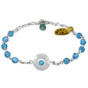 Swarovski Crystals Beads Catholic Rosary Bracelet