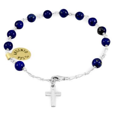 Lapis Lazuli Beads Catholic Rosary Bracelet