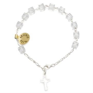 Swarovski Square Beads Catholic Rosary Bracelet